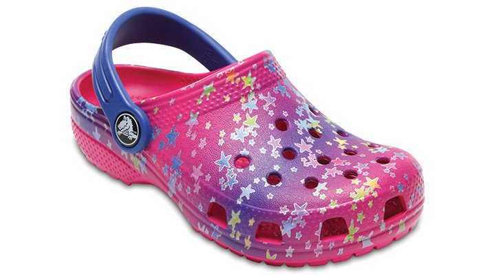 Crocs Multi Stars Kids' Classic Graphic Clog Shoes