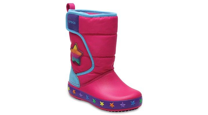 Crocs Multi Stars Kids' Crocslights Lodgepoint Star Boot Shoes