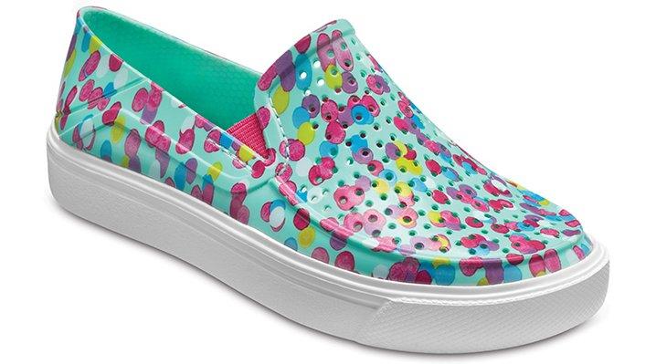 Crocs Multi/Mint Kids' Citilane Roka Graphic Slip-On Shoes