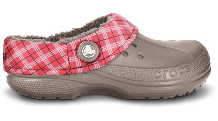 Crocs Mushroom / Blush Blitzen Winter Plaid Shoes