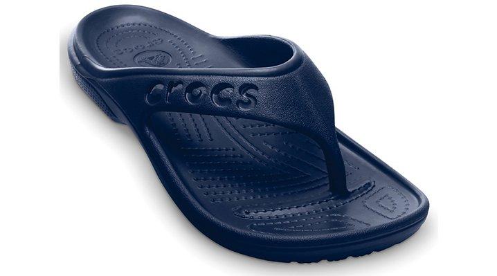 Crocs Navy Baya Flip Shoes