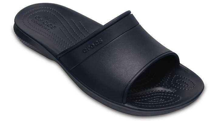 Crocs Navy Classic Slide Shoes