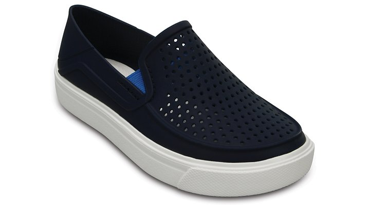 Crocs Navy Kids' Citilane Roka Slip-On Shoes