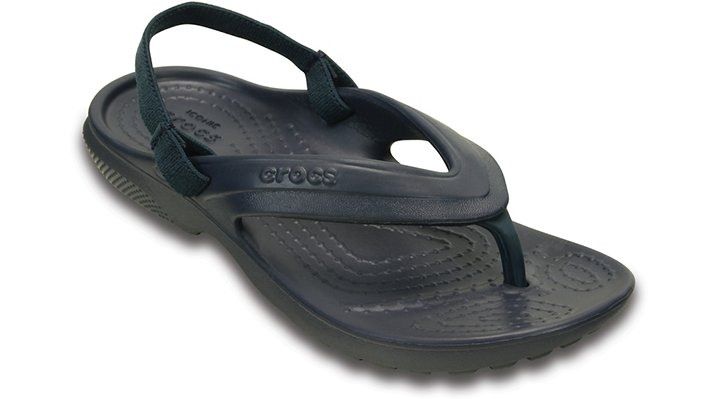 Crocs Navy Kids' Classic Flip Shoes