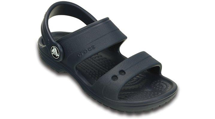 Crocs Navy Kids' Classic Sandal Shoes