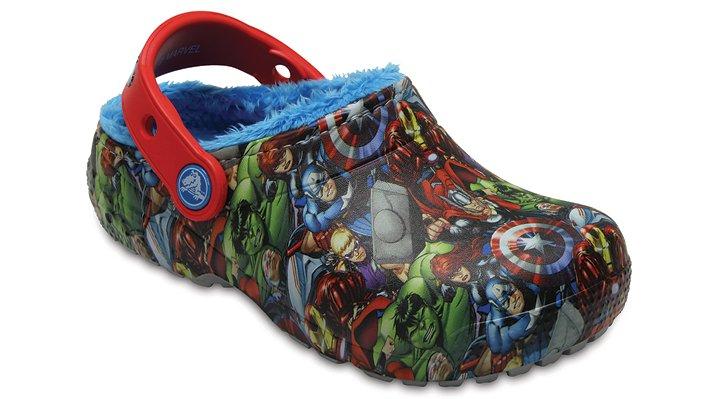 Crocs Navy Kids' Crocs Fun Lab Fuzz Lined Avengers™ Clog Shoes