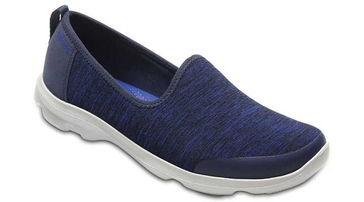 Crocs Navy Women's Busy Day Heather Skimmer Shoes