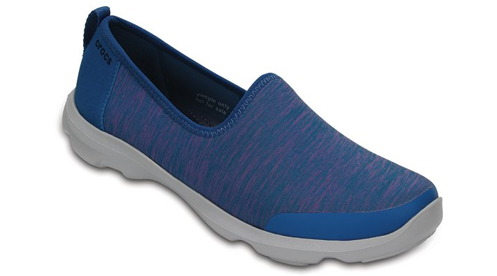 Crocs Navy Women's Busy Day Knit Skimmer Shoes