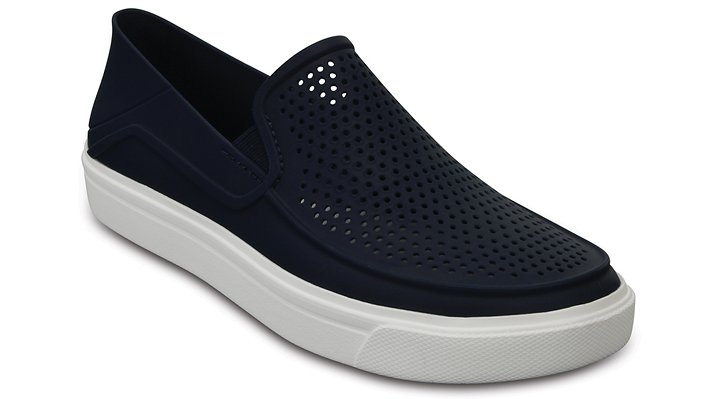 Crocs Navy Women's Citilane Roka Slip-On Shoes