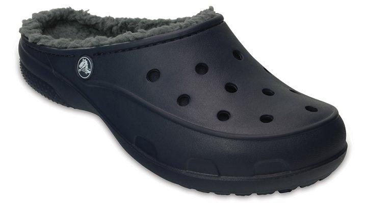 Crocs Navy Women's Crocs Freesail Plush Fuzz Lined Clog Shoes 203570410