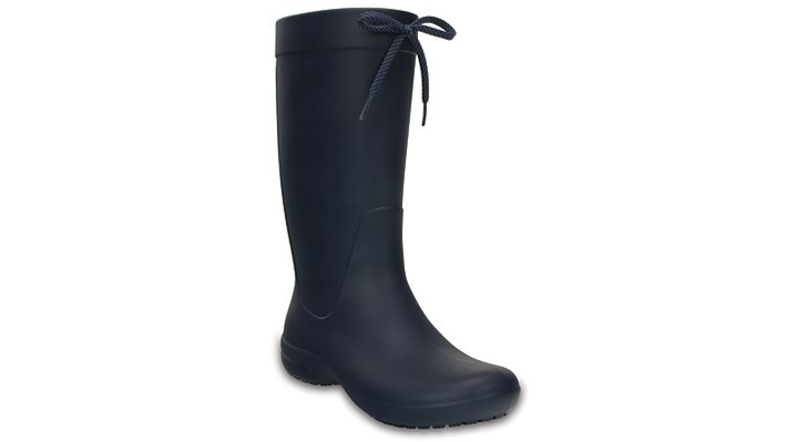 Crocs Navy Women's Crocs Freesail Rain Boot Shoes