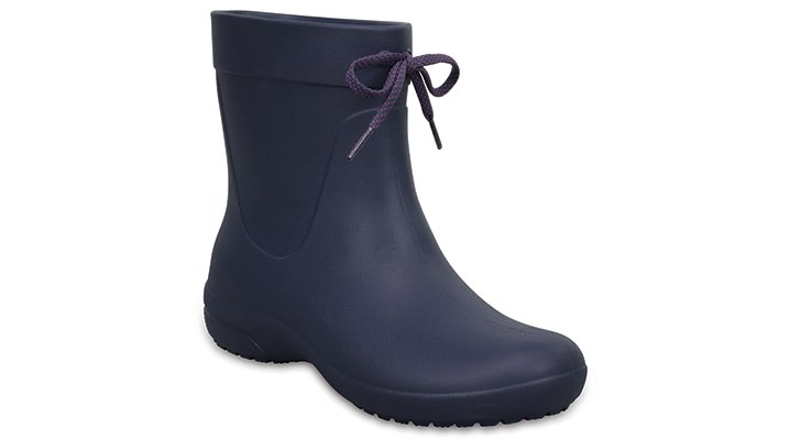 Crocs Navy Women's Crocs Freesail Shorty Rain Boots Shoes