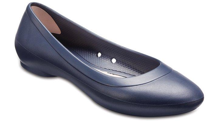 Crocs Navy Women'S Crocs Lina Flat Shoes 203404410