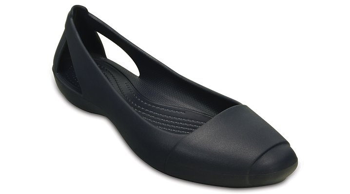Crocs Navy Women'S Crocs Sienna Flat Shoes