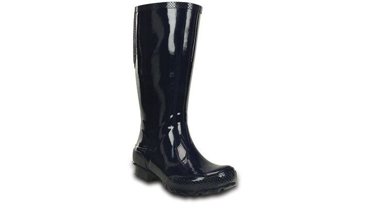 10 Navy Women'S Crocs Tall Rain Boot Shoes