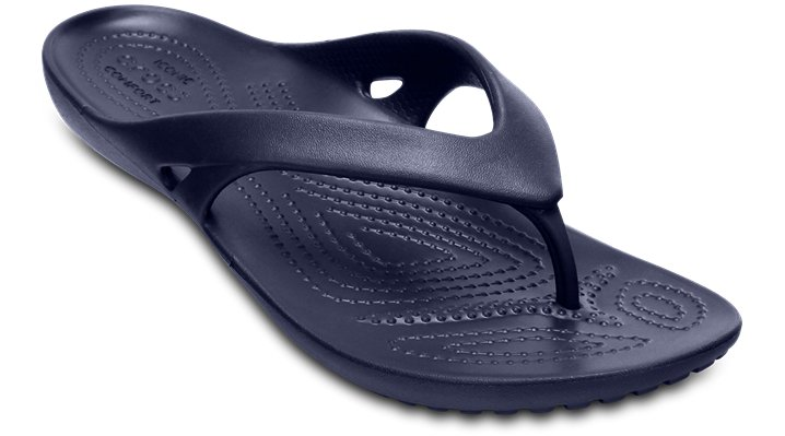 Crocs Navy Women'S Kadee Ii Flip Shoes