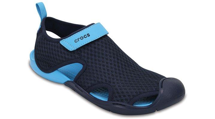 Crocs Navy Women's Swiftwater Mesh Sandals Shoes