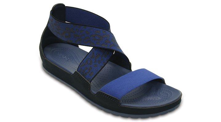 Crocs Navy / Bijou Blue Women's Crocs Anna Ankle Strap Sandal Shoes