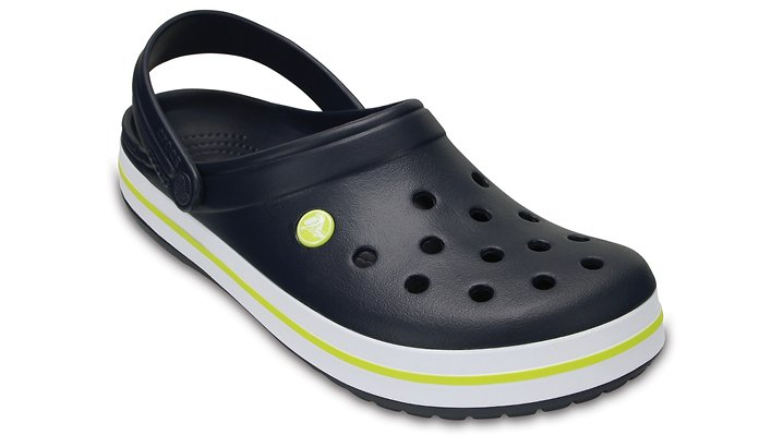Crocs Navy / Citrus Crocband™ Clog Shoes