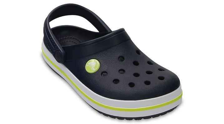 Crocs Navy / Citrus Kids' Crocband™ Clog Shoes