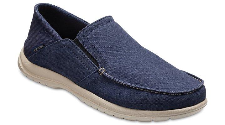 Crocs Navy / Cobblestone Men's Santa Cruz Convertible Slip-Ons Shoes