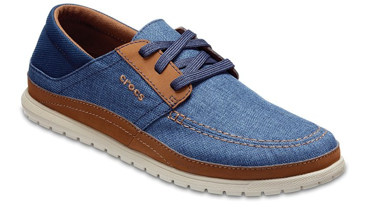Crocs Navy / Cobblestone Men's Santa Cruz Playa Lace-Ups Shoes