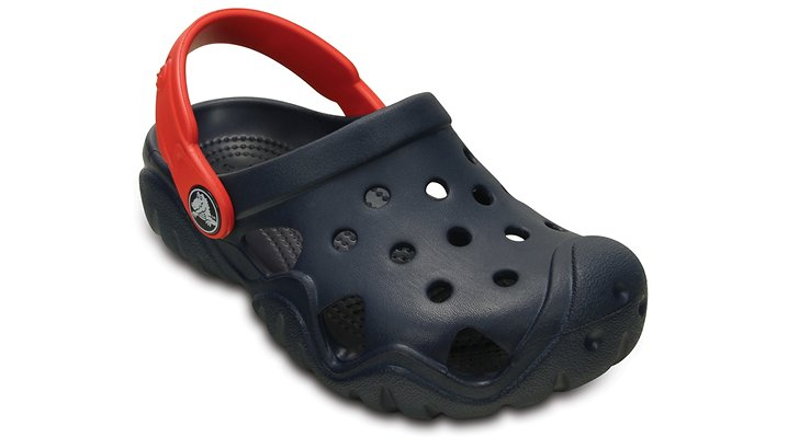 Crocs Navy / Flame Kids' Swiftwater Clog Shoes