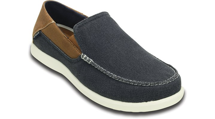 Crocs Navy / Hazelnut Men'S Santa Cruz 2 Luxe Loafer Shoes