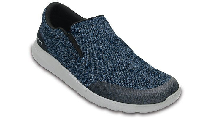 Crocs Navy / Light Grey Men's Crocs Kinsale Static Slip-On Shoes