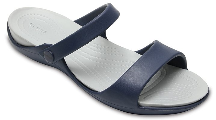 Crocs Navy / Light Grey Women's Cleo V Sandals Shoes