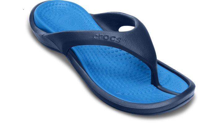 3c052a8e46df1f UPC 883503971394 product image for Crocs Navy   Ocean Athens Comfortable Flip  Flops