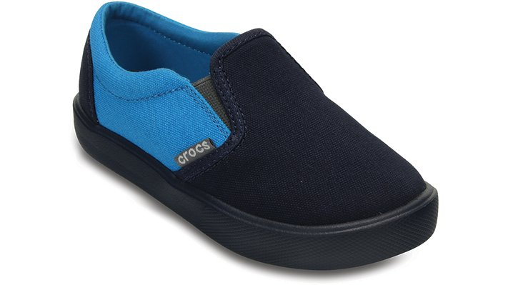 Crocs Navy / Ocean Kids' Citilane Slip-On Sneaker Shoes