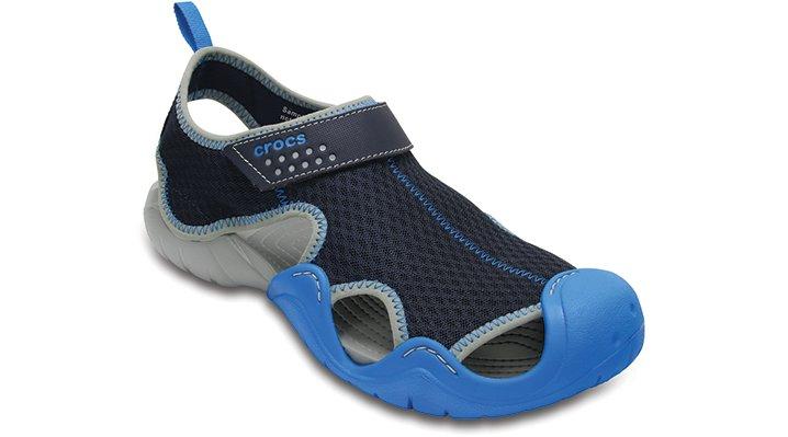 Crocs Navy / Ocean Men'S Swiftwater Sandal Shoes