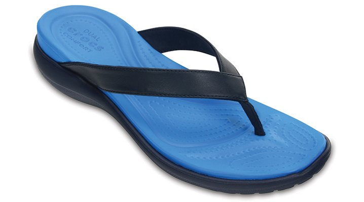 Crocs Navy / Ocean Women'S Capri V Flip Shoes