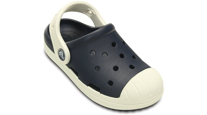 Crocs Navy / Oyster Kids' Crocs Bump It Clog Shoes