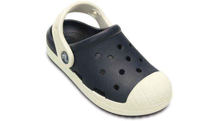 Crocs, Inc. Crocs Navy  /  Oyster Kids' Crocs Bump It Clog Shoes