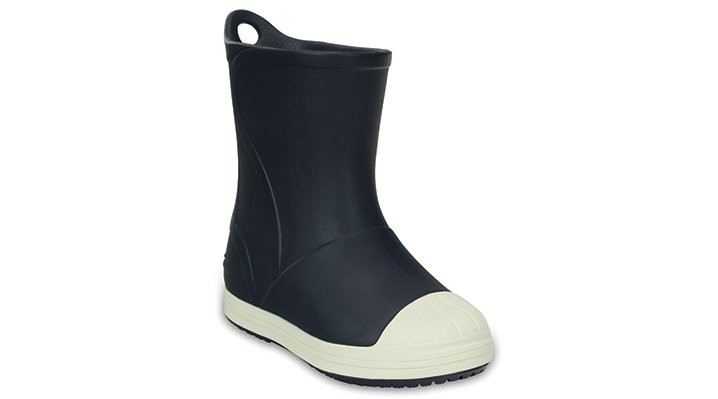 Crocs Navy / Oyster Kids' Crocs Bump It Rain Boot Shoes