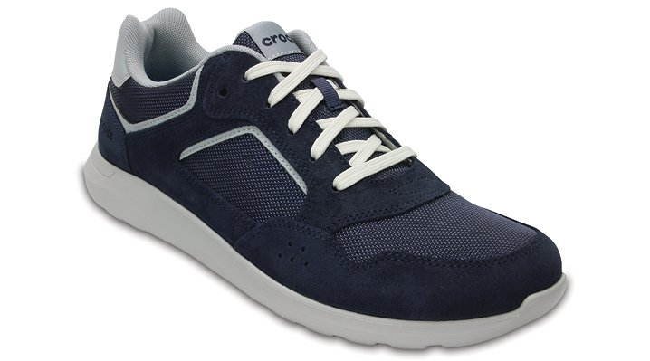 Crocs Navy / Pearl Men's Crocs Kinsale Pacer Shoes