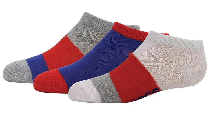 Crocs Navy / Red Boys' Low Fashion Socks 3-Pack Shoes
