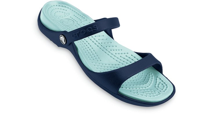Crocs Navy / Sea Foam Cleo Woman's Comfortable Sandals