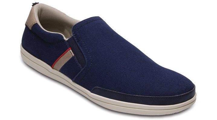 Crocs Navy / Stucco Men's Crocs Torino Slip-Ons Shoes