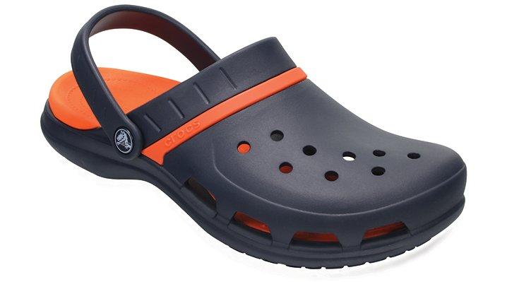 Crocs Navy / Tangerine Modi Sport Clogs Shoes