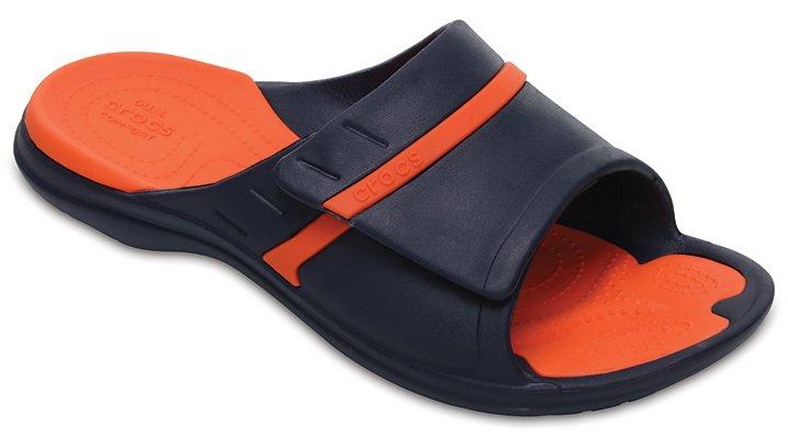 Crocs Navy / Tangerine Modi Sport Slides Shoes