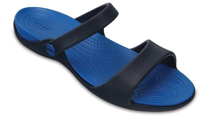 Crocs Navy / Ultramarine Women's Cleo V Sandals Shoes