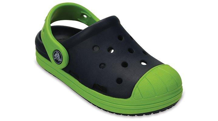 Crocs Navy / Volt Green Kids' Crocs Bump It Clog Shoes