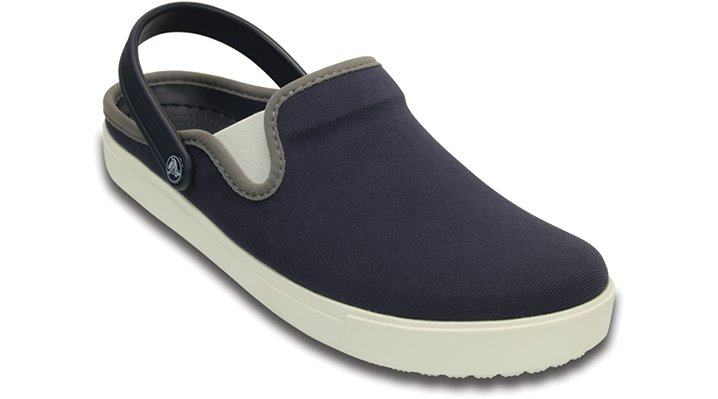 Crocs Navy / White Citilane Canvas Clog Shoes
