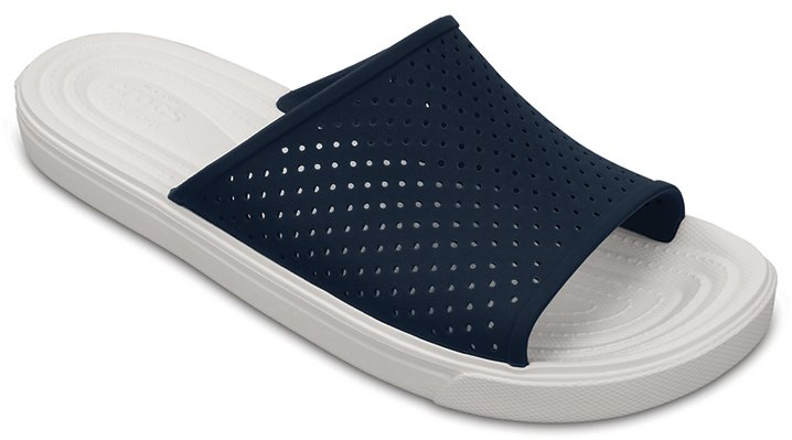 Crocs Navy / White Citilane Roka Slides Shoes
