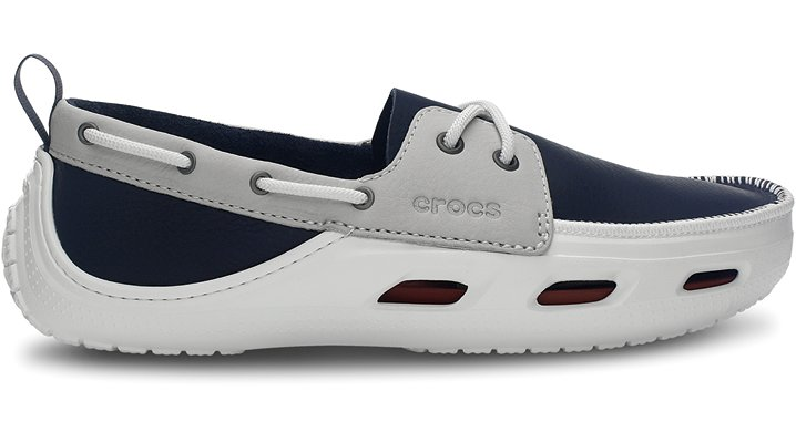 e788d47af1666 Crocs Navy   White Cove Sport Comfortable Men s Boat Shoes ~ Mens ...