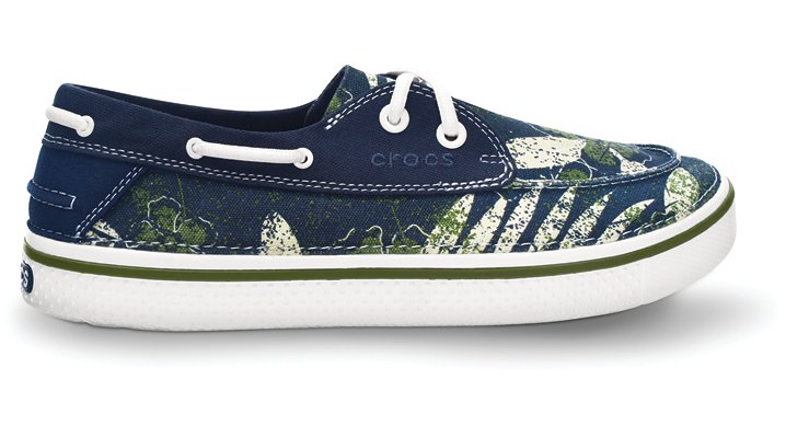 Crocs Navy / White Hover Boat Hawaii Comfortable Boat Shoes