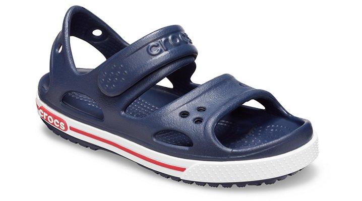 Crocs Navy / White Kids' Crocband Ii Sandal (Children's) Shoes